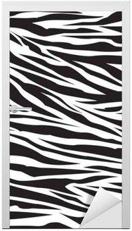 Naklejka na Drzwi Wzór zebry