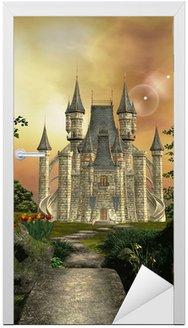 Naklejka na Drzwi Zamek w ogrodzie zaczarowanym