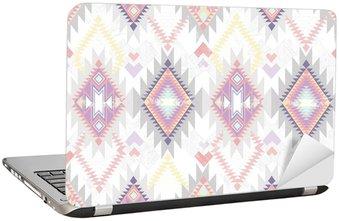 Naklejka na Laptopa Abstrakcyjna geometrycznych powtarzalne aztec wzór.