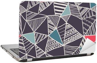 Naklejka na Laptopa Abstrakcyjna powtarzalny doodle wzór