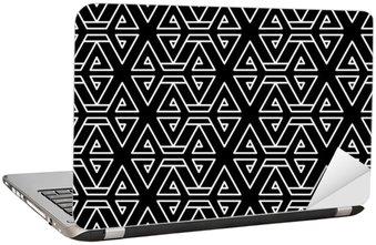 Naklejka na Laptopa Abstrakcyjne geometryczne czarno-białe hipster wzór mody poduszki