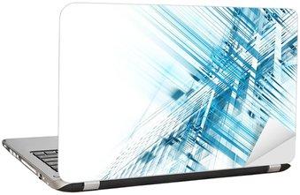 Naklejka na Laptopa Abstrakcyjne science biznesowych i technologicznych w tle