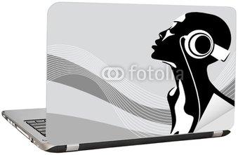 Naklejka na Laptopa Afrykańska kobieta
