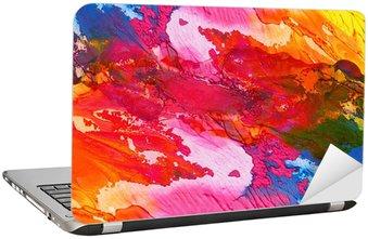 Naklejka na Laptopa Akryl ręcznie malowane tła