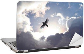 Naklejka na Laptopa Anioł w niebie ptak