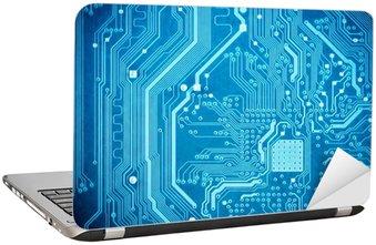 Naklejka na Laptopa Blue obwodami