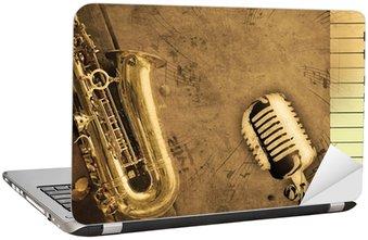 Naklejka na Laptopa Brudne muzyka w tle