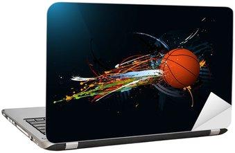 Naklejka na Laptopa Brudne streszczenie grunge, Koszykówka