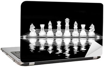Naklejka na Laptopa Chess Set z refleksji