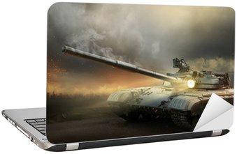 Naklejka na Laptopa Ciężka zbroja w ogniu walki