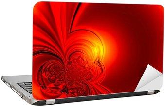 Naklejka na Laptopa Czerwony blask tle