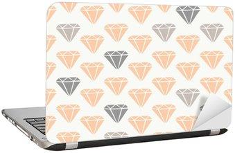 Naklejka na Laptopa Diament Kształty Seamless Pattern
