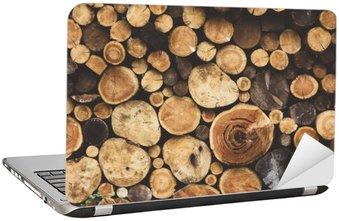 Naklejka na Laptopa Drewno opałowe tekstury