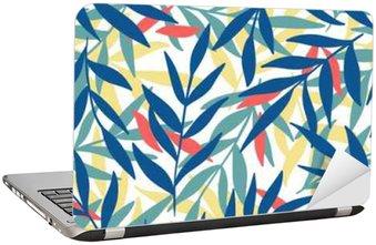 Naklejka na Laptopa Egzotyczne liści, tropikalnych.