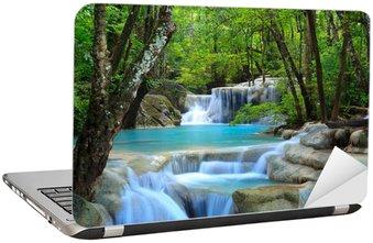 Naklejka na Laptopa Erawan wodospad, Kanchanaburi, Tajlandia