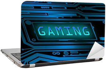 Naklejka na Laptopa Gaming koncepcja.