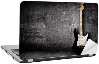 Naklejka na Laptopa Gitara elektryczna i ściany