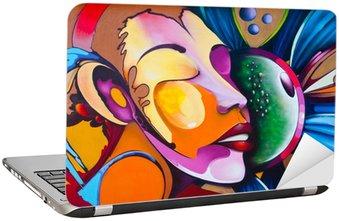 Naklejka na Laptopa Graffiti twarz