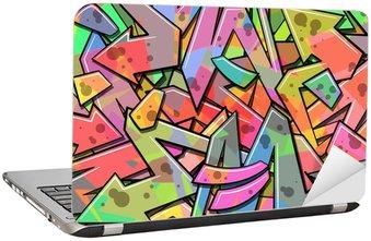 Naklejka na Laptopa Graffiti w tle