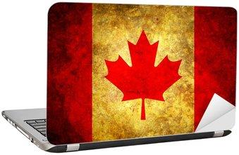Naklejka na Laptopa Grunge Kanada Flag