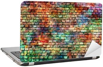 Naklejka na Laptopa Grunge kolorowe ściany, pusty pokój
