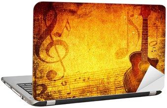 Naklejka na Laptopa Grunge Muzyka