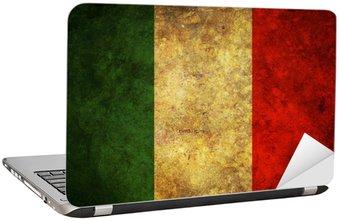 Naklejka na Laptopa Grunge Włochy flag