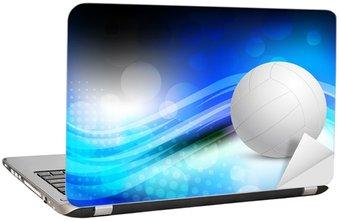 Naklejka na Laptopa Jasne tło abstrakcyjne z piłką