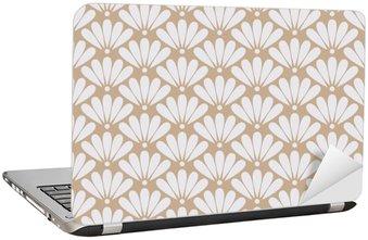 Naklejka na Laptopa Jednolite beżowy orientalny kwiatowy wzór wektora