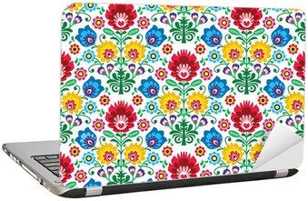 Naklejka na Laptopa Jednolite kwiatów polski wzór - pochodzenie etniczne