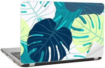 Naklejka na Laptopa Jednolite wzór z liści palmowych