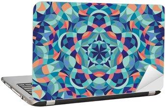 Naklejka na Laptopa Kalejdoskop geometrycznej kolorowy wzór. Streszczenie tle. ilustracji wektorowych