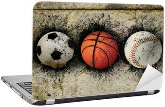 Naklejka na Laptopa Koszykówka, baseball i piłkę nożną