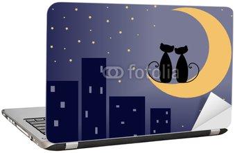 Naklejka na Laptopa Koty miłość
