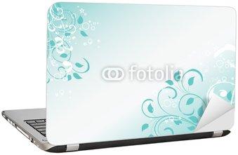 Naklejka na Laptopa Lubiący kwiatowy turkusowe
