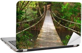 Naklejka na Laptopa Most do dżungli, park narodowy Khao Yai, Tajlandia