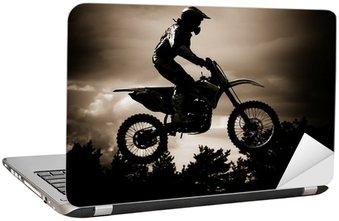 Naklejka na Laptopa Motocross