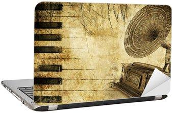 Naklejka na Laptopa Muzyczne tło w stylu grunge