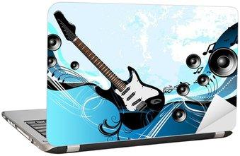 Naklejka na Laptopa Muzyka gitara abstrakcyjna