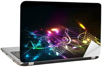 Naklejka na Laptopa Muzyka muzyka notatka motyw kolorowy