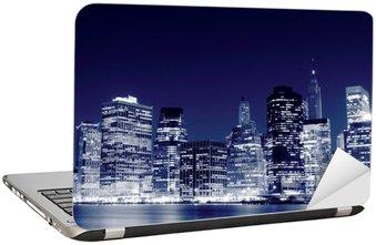 Naklejka na Laptopa Niższe Manhattan Skyline w nocy, New York City