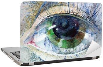 Naklejka na Laptopa Obraz pięknej ludzkiego oka