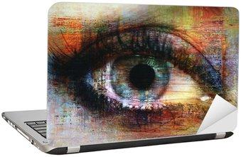 Naklejka na Laptopa Oczy tekstury