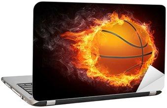 Naklejka na Laptopa Piłka do koszykówki