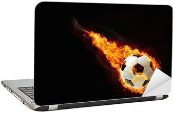 Naklejka na Laptopa Piłka w ogniu