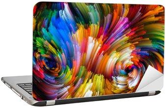 Naklejka na Laptopa Płatki Kolor