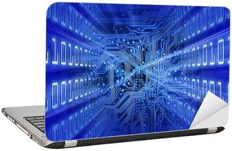 Naklejka na Laptopa Płytka (niebieska energia)