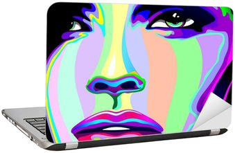 Portret dziewczyny psychodeliczny tęczy Viso ragazza psychedelico