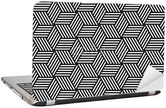 Naklejka na Laptopa Powtarzalne geometryczny wzór w projektowaniu op art.