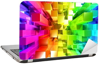 Naklejka na Laptopa Rainbow kolorowe bloki